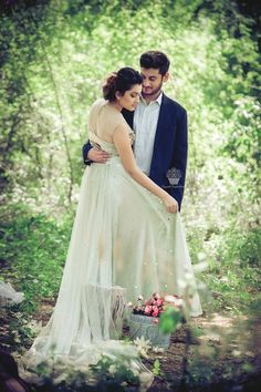 Pre Wedding Shoot - Candid Shoot Pre Wedding in a Natural Outdoor Set Up | WedMeGood | Bride in a White Fairytale Gown and Groom in a Blue Suit  #wedmegood #prewedding #indianbride #preweddingshoot #idea #preweddingidea #gown #suit #fairytale #outdoors