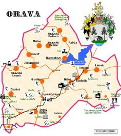 mapka Oravy Pray