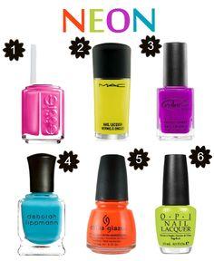 "neon colours | Essie ""Lights"", $8"