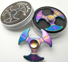 Fidget Toy Spinner Hand Spinner para niños o adultos Alivia el estrés y ansiedad aleación de aluminio,negro (Colorato): Amazon.es: Juguetes y juegos