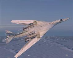 Tu-160 Black Jack flying over.
