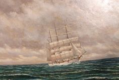 Albert Peins 1894 1974 Gorch Fock Kapitänsbild Marinemaler Segelschiff | eBay Sailing Ships, Boat, Painting, Pictures, Dinghy, Painting Art, Boats, Paintings, Painted Canvas