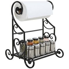 Freestanding Black Metal Kitchen & Bathroom Paper Towel Holder Stand / Counter Top Shelf Rack & Towel Bar, http://www.amazon.com/dp/B014GGGDLS/ref=cm_sw_r_pi_n_awdm_RPTMxbDAPCG0E