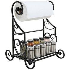 Freestanding Black Metal Kitchen & Bathroom Paper Towel Holder Stand / Counter Top Shelf Rack & Towel Bar, http://www.amazon.com/dp/B014GGGDLS/ref=cm_sw_r_pi_n_awdm_RPTMxbDAPCG0E