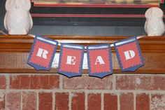 Your place to buy and sell all things handmade Reading Corners, Red And White, Banner, Trending Outfits, Unique Jewelry, Handmade Gifts, Blue, Vintage, Etsy