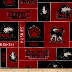 Northern Illinois University Huskies Fleece Red