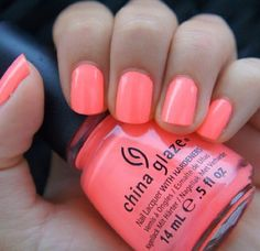 Cute nails summer color... Flip flop frenzy!! Used on my last pedicure fave color of summer