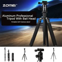 93.61$  Buy here - http://alinog.worldwells.pw/go.php?t=32745688277 - Zomei Z688 Aluminum Professional Tripod Monopod with 360 degree Ball Head For DSLR camera Portable SLR Camera stand