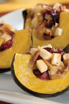 Fruity Acorn Squash Bake – Pineapple and cranberries give this acorn squash bake its sweet and tart fall flavor appeal. Plus, you can't beat that this autumnal side dish is a Healthy Living recipe.