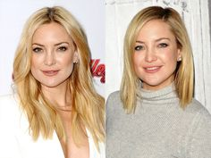 These stars are crossing into new hair-itory (we couldn't resist). Check out Kate Hudson's choppy lob, Hilary Duff's lilac bob, Iggy Azalea's pink do and these other major mane changes