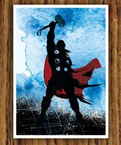 Avengers Movie Poster - Thor.  via Etsy.