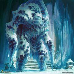 Frios  Una bestia de hielo guardián suele parecer hielo asta que se activa  Peligro 8