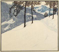 Aus den Tauern by Josef Stoitzner (1884-1951). Woodcut
