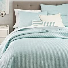 Channel Stitch Coverlet - Pale Harbor