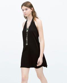 ZARA - WOMAN - TIE NECK DRESS
