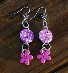 Handmade earrings polka dot by leonorafi on Etsy