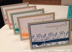 Playful Backgrounds - Stampin' Up! Cased from stampinclub. Making Greeting Cards, Making Cards, Card Crafts, Paper Crafts, Note Cards, Thank You Cards, Easy Cards, Card Designs, Homemade Cards