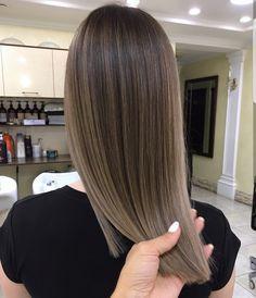 Beautiful cool tones brunette balayage!