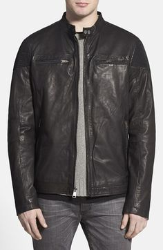 Rogue 'Mustang' Black Leather Racing Jacket available at #Nordstrom