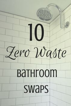 The bathroom ranks number 2 on most wasteful room in your house. We use a lot of disposable products in there! Luckily, there are reus...