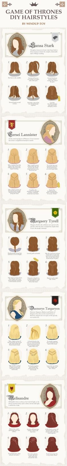Game of Thrones DIY Hairstyles by Windup-Toy!