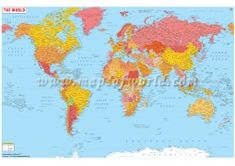 Buy Spanish World Map online Blank World Map, Cool World Map, Africa Continent Map, Asia Map, World Map Online, Usa Road Map, Latitude And Longitude Map, India World Map, World Political Map