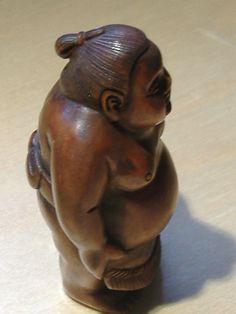 sumo netsuke