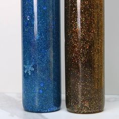Glitter bottles. Create your theme with different color combos: blue/snowflakes, red/pink/hearts, pink/white/tiara, red/green Christmas, brown/gold/reindeer, superheroes....etc. Make and gift for kids? 😉