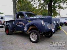 How Many 1/4 Miles Do You Think This Willys Gasser Has Seen In It's Lifetime? Photo By JEGS Employee, Aaron Easter.