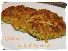 Galettes de lentilles corailles (6) Lolo, Quiche, Zucchini, Vegetables, Cooking, Breakfast, Recipes, Flat Cakes