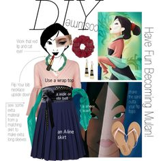 14 best halloween costumes images on pinterest mulan halloween diy mulan costume by spicedblossom on polyvore featuring orla kiely echo by malene solutioingenieria Image collections