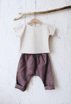 Beautiful Handmade Linen Baby Toddler Top & Pants | Etsy