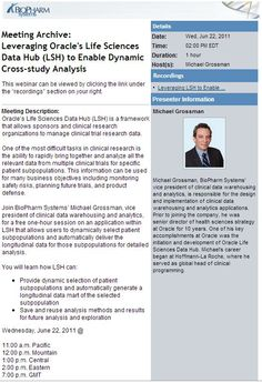 Leveraging Oracle's Life Sciences Data Hub (LSH) to Enable Dynamic Cross-study Analysis