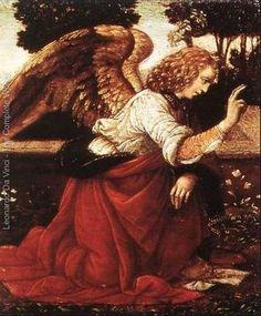 Title:Annunciation (detail 1) 1478-82 Painted by:Leonardo Da Vinci Location:Musée Du Louvre, Paris, France Orientation:Portrait
