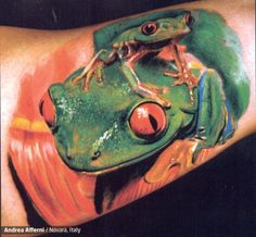 "Would be a cute ""Mom and boys"" tattoo if we could add a 3rd frog."