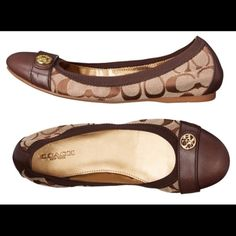 Brand New Authentic Coach Flats. Dark brown authentic signature coach flats. Coach Shoes Flats & Loafers