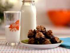 Get Gluten-Free Dark Chocolate Dipped Coconut Macaroons Recipe from Food Network
