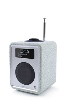 R1 MK3 Osborne & Little luxury kitchen radio with crystal clear OLED display. visit www.ruarkaudio.com for more information
