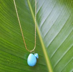 Hey, I found this really awesome Etsy listing at https://www.etsy.com/listing/387099216/33-gold-chain-with-turquoise-pendent
