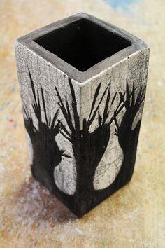 RAKU - Keramik - Objekt, *Weiden*, Behälter,... von zeit-geister auf DaWanda.com