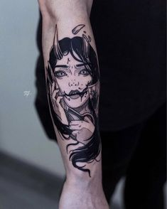 Tattoos are created by injecting ink through into the skin. Tattoo artists accomplish this by using an electric powered tattoo gun that almost sounds like the drill a dentist uses. Oni Tattoo, Manga Tattoo, Dark Tattoo, Black Tattoos, Body Art Tattoos, Cool Tattoos, Smal Tattoo, Zealand Tattoo, Japanese Tattoo Art