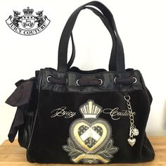 """Juicy Couture daydreamer handbag Lovely and 100% Authentic  preloved black Velvet Juicy Couture daydreamer handbag in a very good condition, only wear twice!! No tear or stain inside or outside. Dimensions are 13"""" X 10.5"""" X 7. Comes from Smoke free home. Juicy Couture Bags Satchels"""
