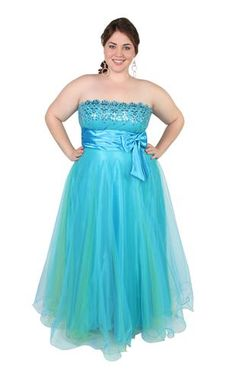 plus size one shoulder glitter mesh ball gown