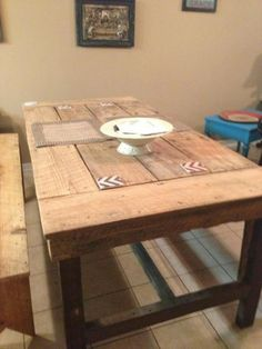 Farmhouse Table! with Reclaimed Wood| Do It Yourself Home Projects from Ana White