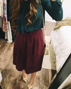 I love Sundays and I love today's outfit! Apostolic Fashion, Jw Fashion, Modest Fashion, Autumn Fashion, Fashion Outfits, Womens Fashion, Modest Skirts, Modest Outfits, Classy Outfits