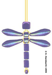 Beaded Dragonfly Earrings - Beadwork