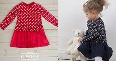 Gratis Schnittmuster Kinderkleid Interlock Jersey