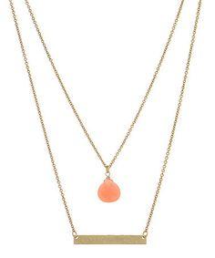 Love this Pink & Goldtone Erin Necklace on #zulily! #zulilyfinds