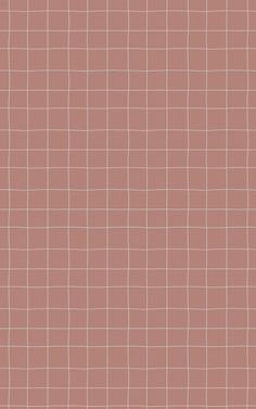 With its dusty Pink and greyed cream tones, this version of our Tic Tac wallpaper is an incredibly trendy choice for fans of minimalist decor and warm, natural colours. The hand-illustrated, textured look of the grid lines is a charming feature that gives this modern design a relaxed, homely feel. And the plain, solid background colour keeps your living room, home office, or kitchen looking clean and pared-back. Pink And Grey Wallpaper, Plain Wallpaper Iphone, Grid Wallpaper, Aesthetic Pastel Wallpaper, Pink Aesthetic, Pattern Wallpaper, Aesthetic Wallpapers, Pastel Plain Background, Pastel Background Wallpapers