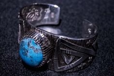 Bisbee Turquoise Silver, by Kee Yazzie, Jr.